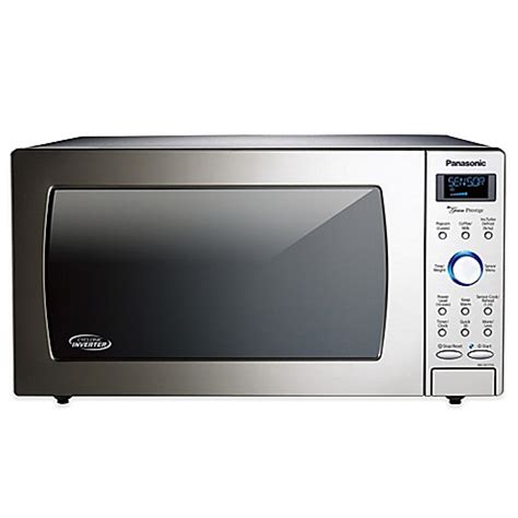 bed bath beyond microwave panasonic 174 cyclonic wave microwave in stainless steel bed bath beyond