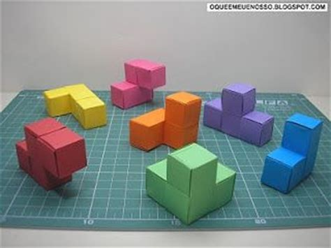 Origami Soma Cube - what s mine is our origami paper paper