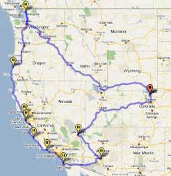 road map of oregon and california j b road trip