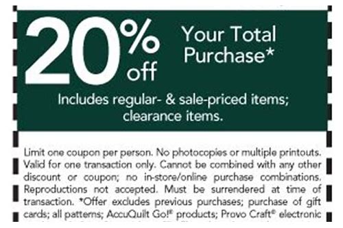 college fabric store coupon code