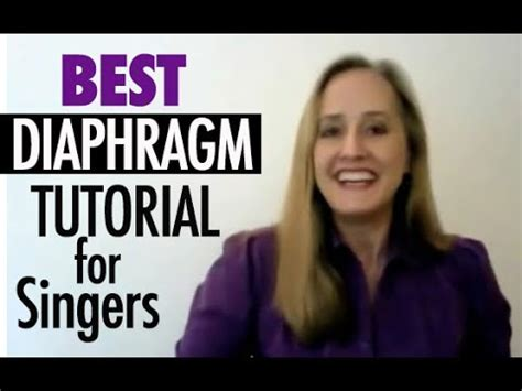 how do you sing from the diaphragm breathing for
