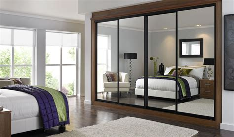 bedroom mirrored wardrobes mirror sliding closet doors inspired condo bedroom