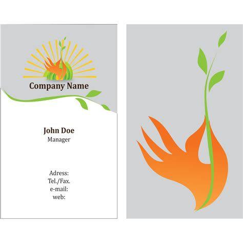 eco business card templates vector for free use eco friendly business card template