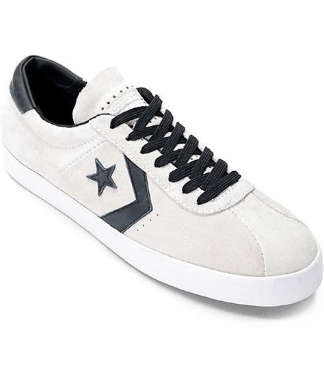 converse breakpoint pro ox white black white skate shoes zumiez