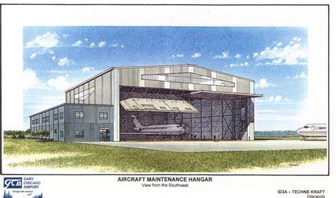 gary chicago gary chicago airport hangar boeing jeff sipe archinect