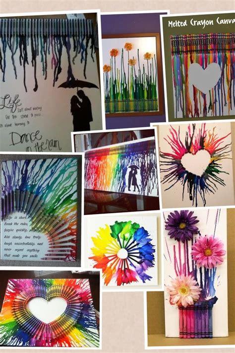 cuadro con ceras derretidas m 225 s y m 225 s manualidades como hacer un cuadro con crayones