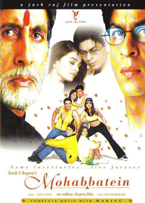 film india terbaru shahrukh khan full movie mohabbatein 2000 shahrukh khan hindi movie posters