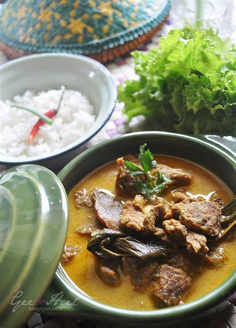 geehut daging masak lemak cili padi