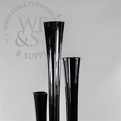 Black Glass Vases Wholesale by 28 Quot Glass Eiffel Tower Vase Rd Black Wholesale Flowers