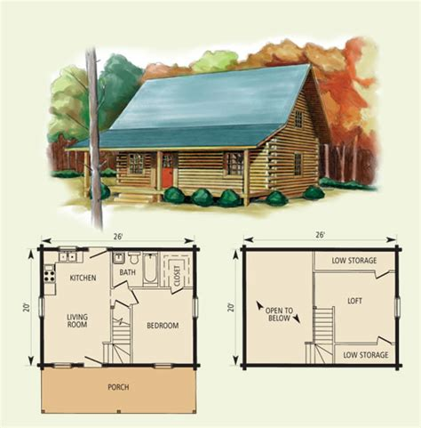 log cabin floor plans with loft hideaway