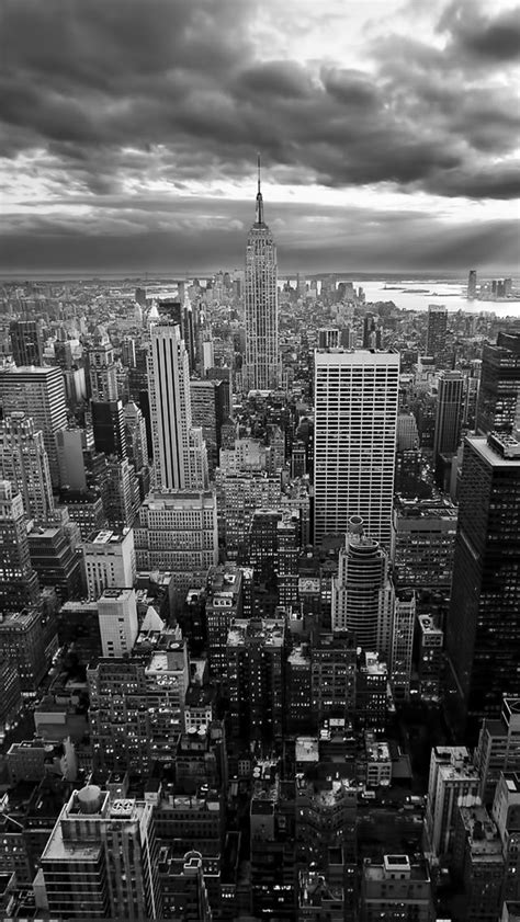 New York Iphone Wallpaper Black And White | new york empire state building black white iphone 5