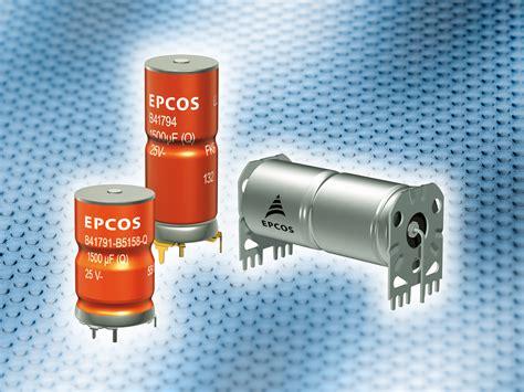 epcos ag capacitor アルミ電解コンデンサ 高リップル電流耐量で高耐久型コンデンサ epcos ag