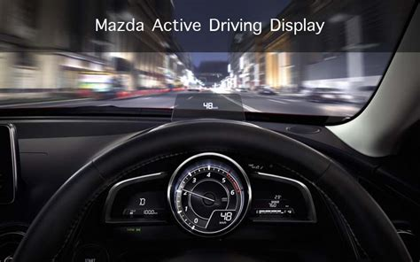 mazda active driving display heads up display discover