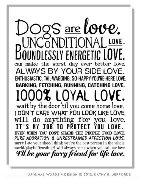 printable animal quotes dogs are love typographic print sentimental pet poem dogs