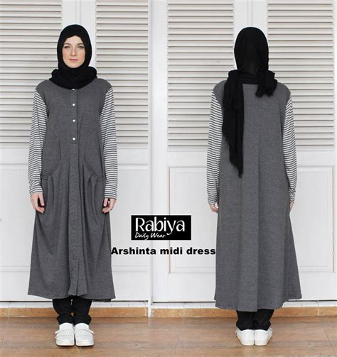 Gamis Pesta Ld 120 arshinta midi baju muslim gamis modern
