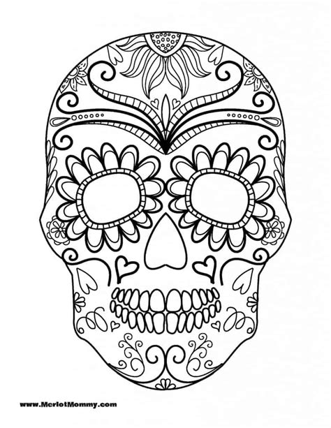 sugar skull coloring page sugar skull coloring page az pages sketch coloring page