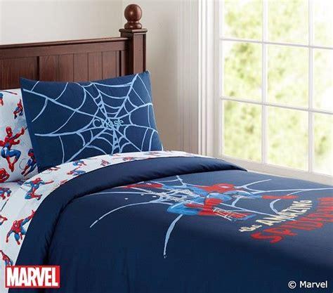 spider bedding spider man duvet cover pottery barn kids spiderman