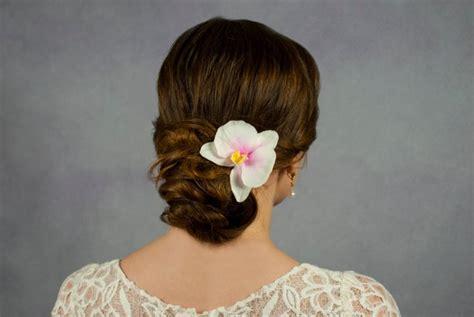 white orchid clip flower hair pin flower hair orchid hair clip white orchid flower headpiece bobby pins flowers for hair ornaments hair
