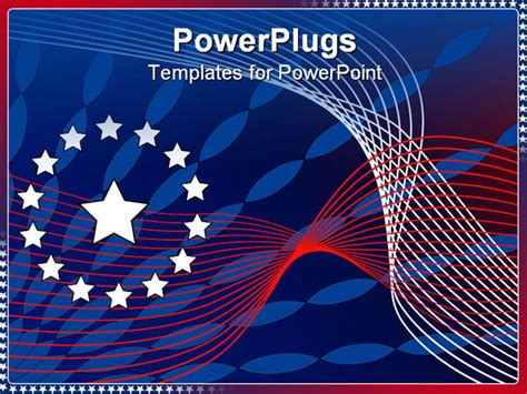 Powerpoint Template Red White And Blue Abstract Stars And Stripes 23151 Patriotic Powerpoint Template