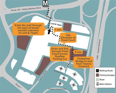tysons corner mall map directions hours tower club tysons va