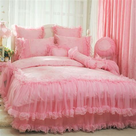 romantic comforter sets king aliexpress com buy pink rose romantic lace wedding