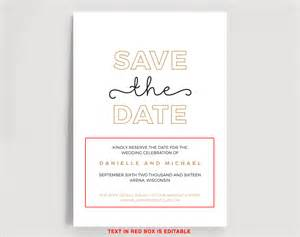 Save This Date Template by Save The Date Editable Template Instant