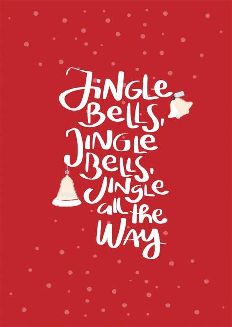 jingle bells red send real postcards