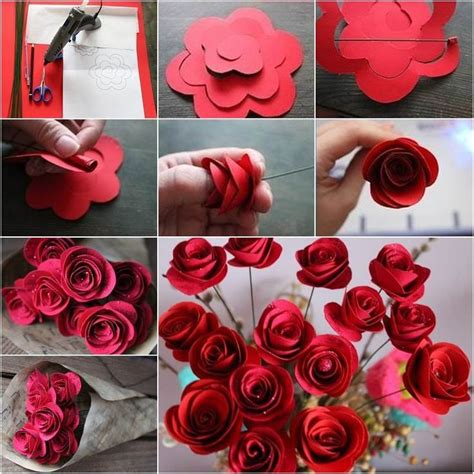 craft works using paper craft work with paper flowers step by step find craft ideas