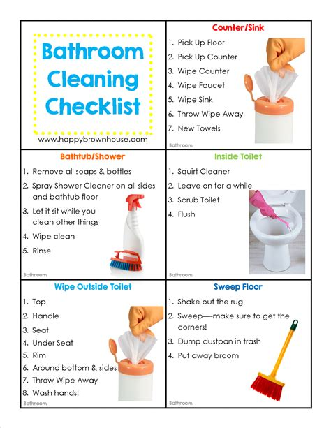 picture chore card template editable cleaning chore cards for happy brown house
