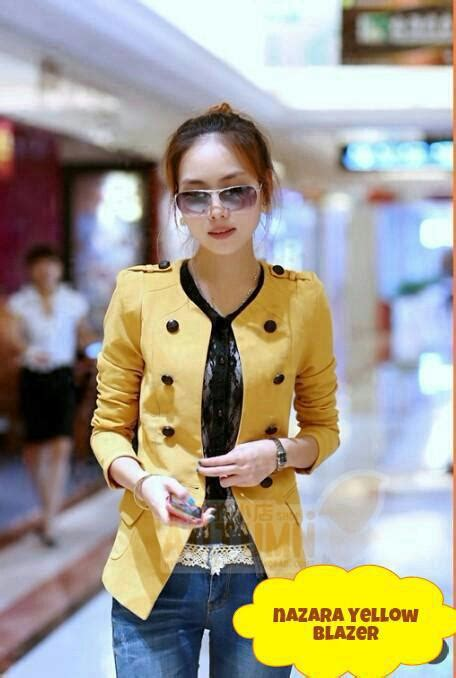 Tas Fashion Korea Import Murah Js22042 Kuning blazer nazara kuning lians olshop