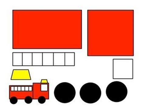 shape fire truck craft template google search toddler