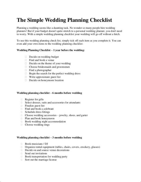 printable checklist samples templates  word