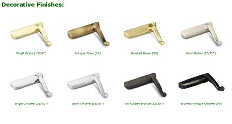 color chart truth hardware products biltbest window parts truth hardware color decorative finishes 13 14 58 10 33 35
