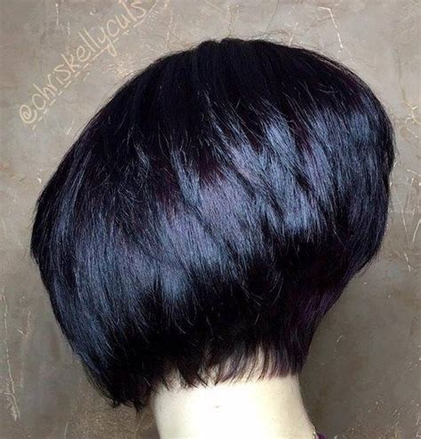 angled bob with waves for 40 year old woman 40 short bob hairstyles layered stacked wavy and angled