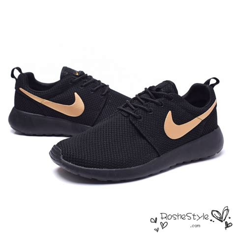 Nike Roshe Run 4 nike roshe run black gold womens mens