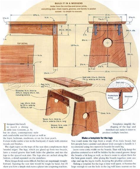 wood bench plans woodarchivist