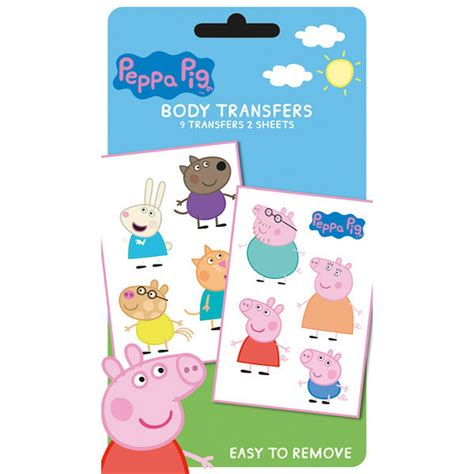 peppa pig tattoo peppa pig characters pack iwoot