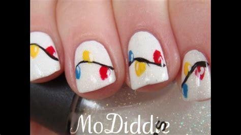christmas nail art tutorial youtube christmas lights nail art tutorial in hd youtube