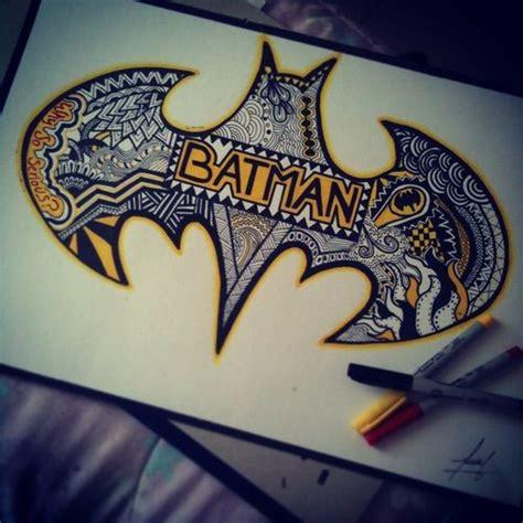 batman writing tattoo batman zentangle drawings art cool batman drawings