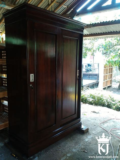 Lemari Pakaian Jati Mawar Kalung Nakas Bufet Kamar Set Dipan Sofa lemari pakaian minimalis jati solid terbaru kencana jati furniture