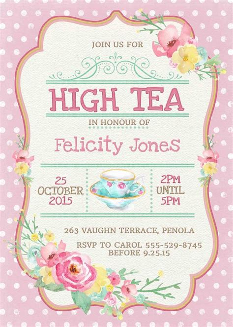 kitchen tea party invitation ideas kitchen tea invitation or high tea invitation printable