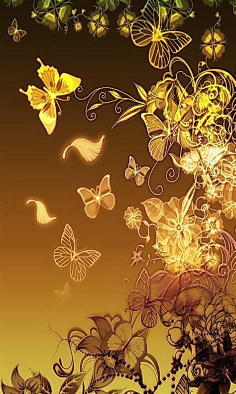 wallpaper gold butterfly download golden butterfly wallpapers to your cell phone