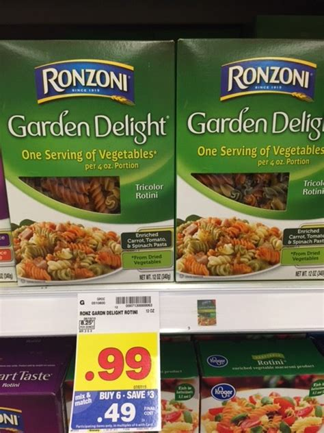 ronzoni garden delight