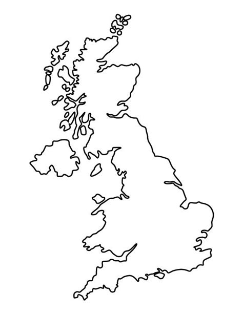 template of uk map united kingdom pattern use the printable outline for crafts creating stencils scrapbooking