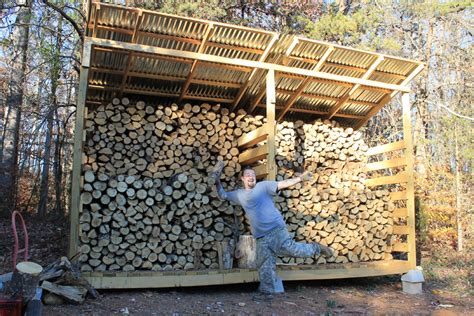 firewood storage   built  woodshed  life