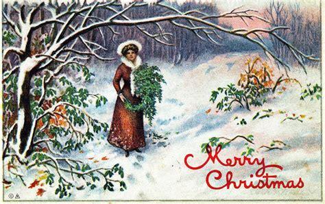 door   hall merry christmas postcard