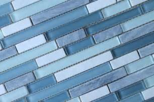 Waterfall Glass Tile Bliss Series Waterfall Linear Glass And Stone Mosaic