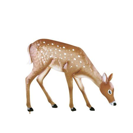 walmart decorative deer outdoor grazing deer garden decor yard stake walmart