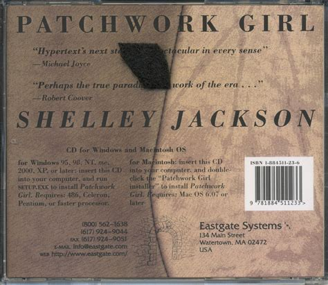 Patchwork Shelley Jackson - cd re release back