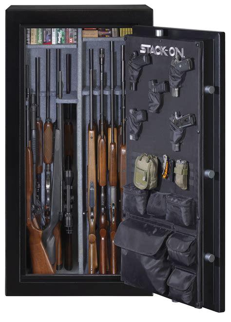 stack on gun cabinet door organizer elite 30 gun safe